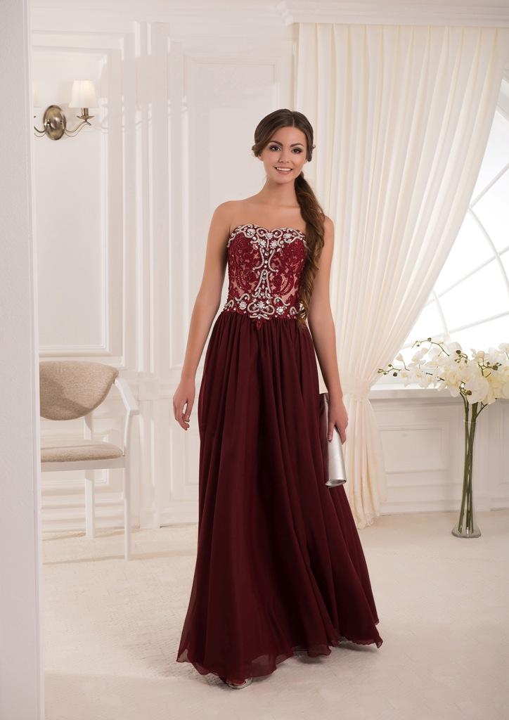 c9070bf9099 Роскошное длинное вечернее платье в пол насыщенного цвета марсала.Топ платья  из кружева