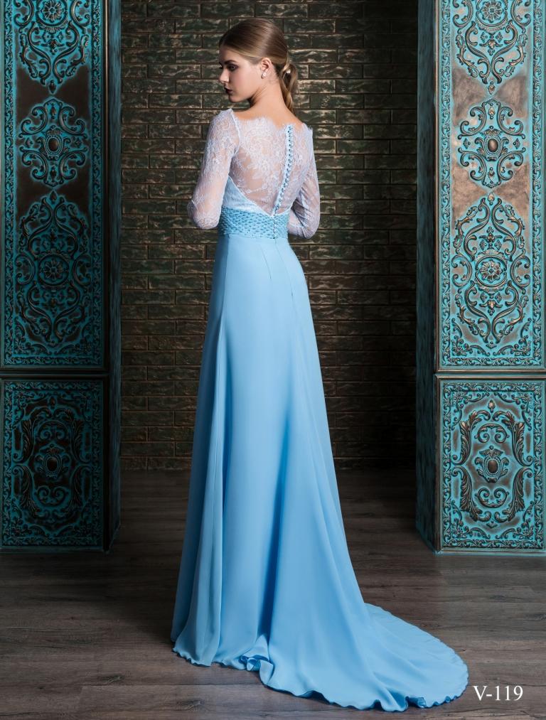 67e25d97bf6 Голубое платье на выпускной бал 2018