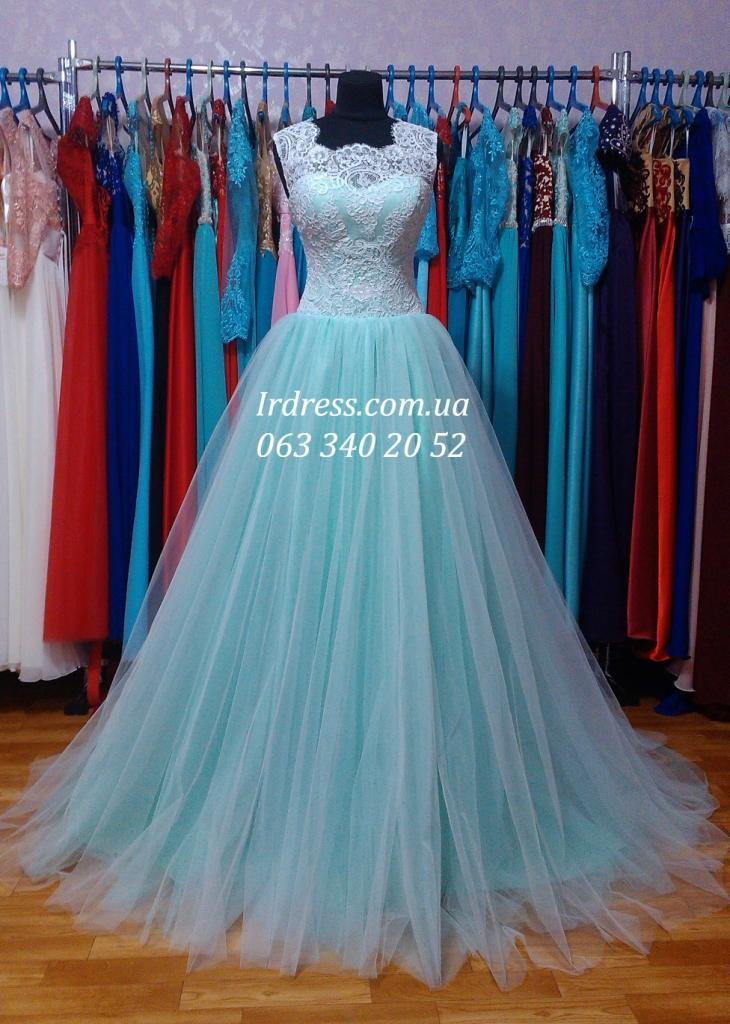 290d7431e42 Свадебное платье мятного цвета